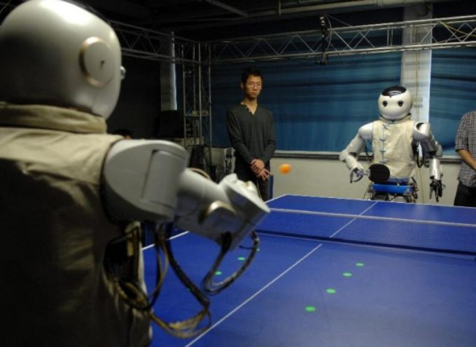 Ping pong: Wu contro Kong, la sfida dei robot